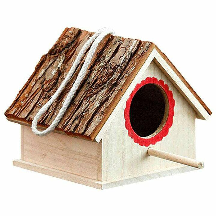 野鳥の巣箱に、こんな感じの止まり木があった方がいいと思いますか? シジュウカラやスズメが対象です。