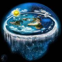地球はこのようにフラットであり、氷に囲まれた形をしてます。国連の地図もこれと同じです。 誰が地球は丸いとか自転してるとかガセを流すようになったのですか?