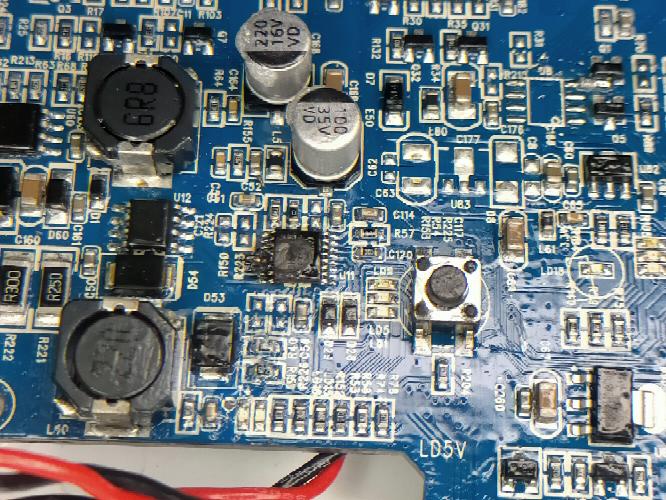 DONIのV18というロボット掃除機を使っているのですが、分解してみたらチップが焦げてました。なんのチップか教えて下さい。