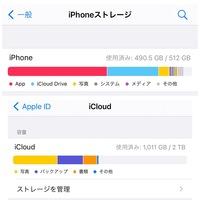 iPhoneストレージについて質問です。  この場合ストレージ容量は2512GBということでいいのでしょうか? iPhoneストレージは512GBですが、iCloudに移していけば問題ないですかね… それとも、iCloud DriveとiCloudは別物なのでしょうか。