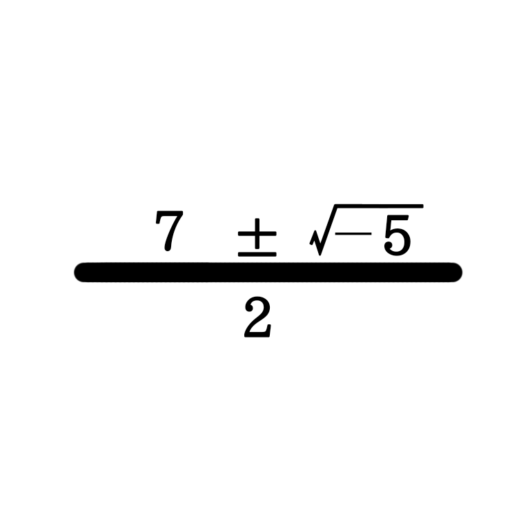 二次方程式で解の公式を使った時に、 下のようになってしまった場合は符号をどうすればいいのですか?