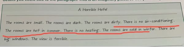英語の課題についての質問です。 接続詞を使って、繋げられる文同士は1つの文でまとめる課題が出されました。 画像の赤線部は全て1文で書いても大丈夫ですか? 例えば、 There is no ...