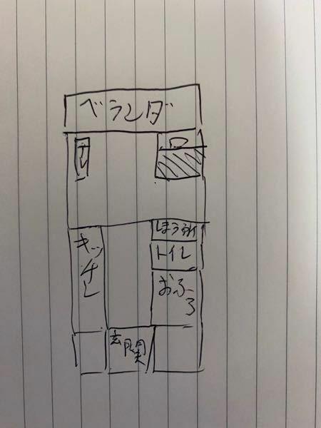 こういう間取りは存在しますか? 普通ですか? あるとしたら家賃は5万ぐらいですか? 割と都会の方の設定です。神奈川とか東京とか 字が汚くてすみません。 おかしいところがあったら教えて欲しいです。