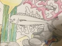 セリアで、立体塗り絵のマーメイドオーシャンの塗り絵を買ったのですが、 この魚がよくわかりません。 だれかこの魚知ってる人いませんか?