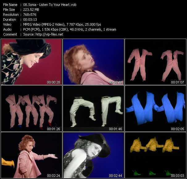 1989年にリリースされたSoniaの「Listen To Your Heart」のミュージックビデオが収録されているDVD(LDでも可)を探しています。 輸入モノでも構いませんのでご存知の方、...