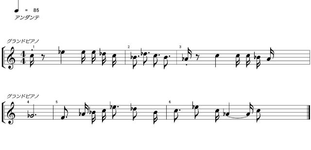 体育祭の行進曲のタイトルが思い出せません。 記憶を頼りに中盤を楽譜におこしてみましたが、最後2小節の音があやふや+拍が合わないので大変分かりにくい仕上がりです。 この少ない条件からタイトルを教えてください。お願いします。