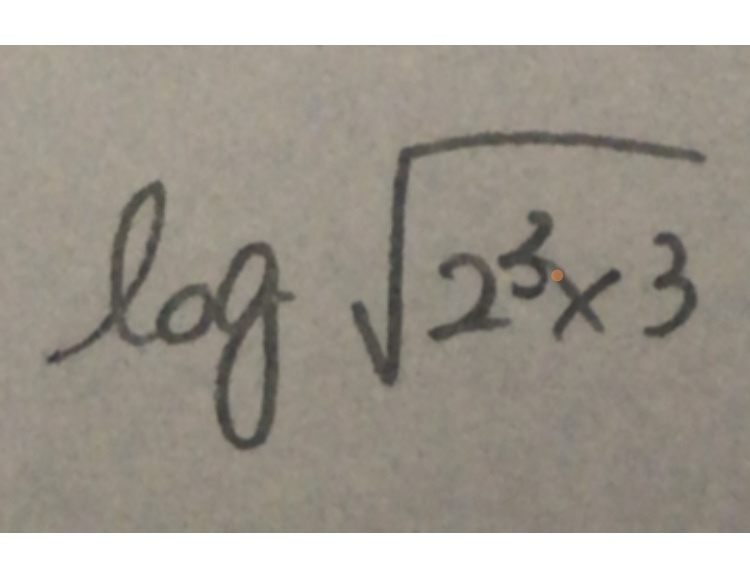 これの √ の外し方教えて欲しいです。 (3log2+log3)2分の1乗かな?とおもったのですが違いますか?