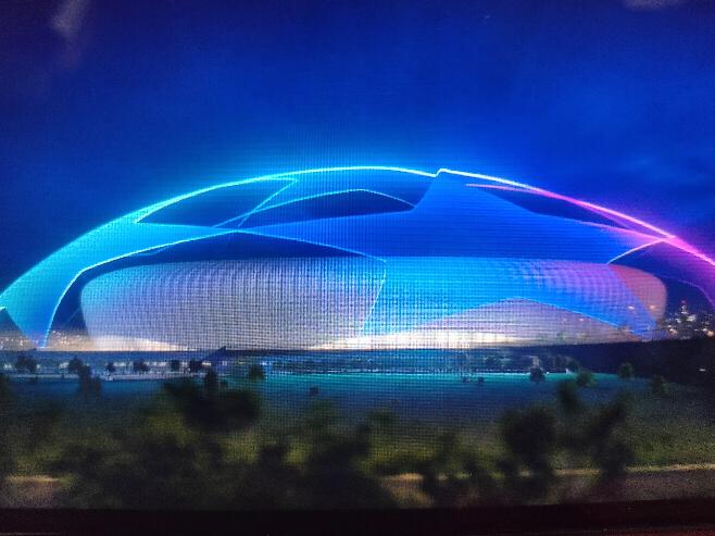 欧州チャンピオンズリーグUEFA CLの試合の最初に出てくるアニメーションのスタジアムは実在するものなんでしょうか。ご存知の方いらっしゃいましたら教えて頂けませんか。