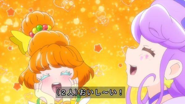 プリキュアグミのCMのこのパパイアちゃんとキュアコーラルちゃんは可愛いですか?(^-^)
