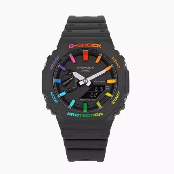 腕時計について。 インスタでこのレインボーのG-SHOCKを見かけたのですが、これってカスタム品なのですか? 検索しても見つからないのですが。 カスタム品か、限定品なのですか?