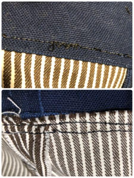 ミシンの扱いに慣れている方や洋裁が得意の方に質問です。 画像のようになってしまう原因がわかりません。 8号帆布生地とヒッコリー生地を縫い合わせてるのですが、上糸も下糸もこのようになってしまいます。 ちなみに ミシン針:#16 ミシン糸:上糸下糸共に#30 上糸の調整は、自動にしてみたり、強め?にしたりと色々試してみましたが、変化がありません。 2日ほど前からコツコツ縫っているのですが、2日ほど前は問題なく縫えておりました。 ご回答、お待ちしております。 よろしくお願いします。