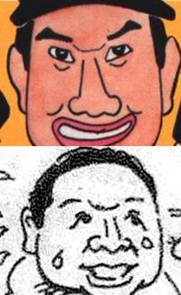 似顔絵の眉と眉の間のこういう線って、何ですか?