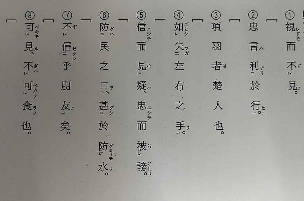 漢文の問題です。写真の文を書き下し文にして頂ける方いませんか? できる範囲で大丈夫です