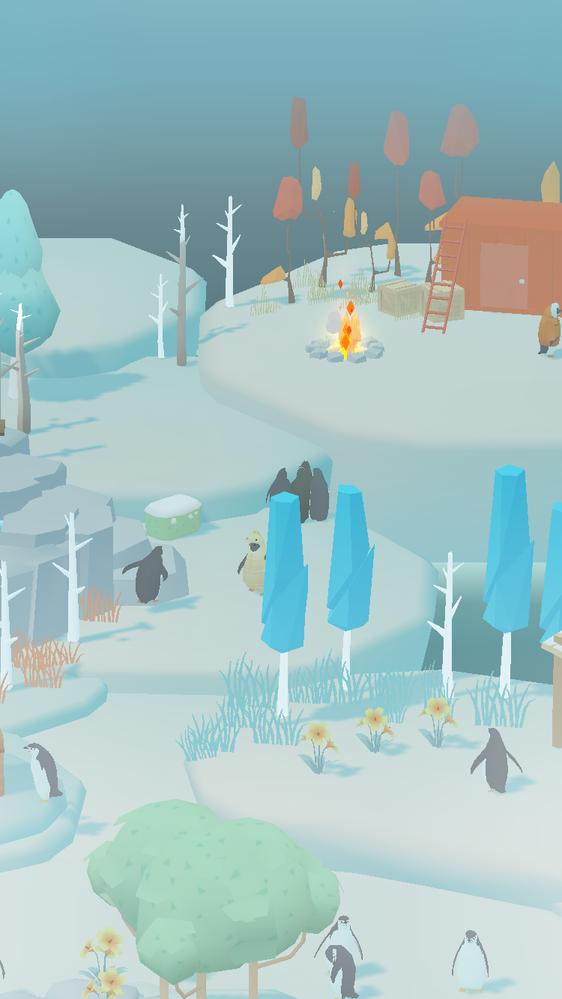 ペンギンの島 というゲームについて質問です。 南極基地をオープンしたのですが、ここに他のペンギンが入れないまま、下のところで集まっています。このペンギンたちを南極基地に入れることはできないのでしょうか?