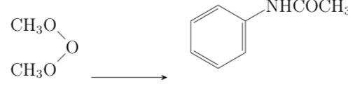 Texのchemfigをつかって、化学式を書いてます。 添付の図のように、矢印の位置が不満です。 矢印だけを上げるにはどういう方法がありますか?手元の参考書には\raiseboxという方法があ...