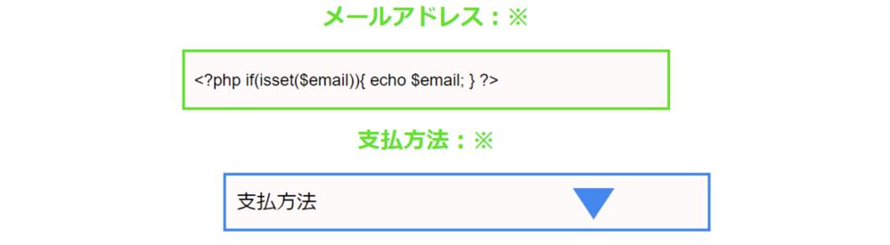 """セレクトボックスを中央に配置したいです。 付属画像の青いセレクトボックスを画像の上の緑色の入力フォームに合わせて真ん中に配置したいのですがなぜか真ん中に行きません。どうしたらよいでしょうか?回答よろしくお願いいたします。 コードは下にあります。HTML CSS <!DOCTYPE html> <html> <head> <meta content=""""text/html; charset=utf-8""""/> <link rel=""""stylesheet"""" href=""""syoki.css""""> <style> /* 入力フォームの位置 */ .auto-style1 { margin: auto; text-align: center; } /* セレクトボックスの位置 */ .auto-style2 { position: relative; margin: auto; text-align: center;/* セレクトボックス中央に配置 */ width: 24.3em; height: 56px; } .auto-style2::before{ position: absolute; top:1.4em; right:0.9em; width:0; height:0; padding: 0; content:""""""""; border-left: 20px solid transparent; border-right: 20px solid transparent; border-top: 30px solid #48e; pointer-events: none; } </style> </head> <body> <form action =""""hpform1.php"""" method =""""post"""" class=""""auto-style1""""> <div class=""""auto-style1""""> <p class=""""px-num""""> メールアドレス:※ </p> <input type=""""text"""" class=""""email"""" name=""""email"""" id=""""email"""" value=""""<?php if(isset($email)){ echo $email; } ?>""""/> </div> <p class=""""px-num""""> 支払方法:※ </p> <div class=""""auto-style2""""> <select name=""""pay"""" class=""""pay"""" id=""""pay""""> <option value="""""""">支払方法</option> <option value=""""クレジットカード""""<?php if(isset($pay) && $pay===""""クレジットカード"""") { echo """"selected"""" ;} ?>>クレジットカード</option> </select> </div> </form> </body></html> ◎◎cssのコード(syokicss) /* 入力フォームのスタイル */ #email { border: 3px solid #63e02d; width: 27.8em; /* 横幅 */ height: 36px; /* 高さ */ line-height: 1.2; /* 行の高さ */ } /* セレクトボックスのデザイン */ #pay { border: 3px solid #48e ; /*#63e02d 枠線 */ padding: 0.5em; /* 内側の余白量 */ background-color: snow; /* 背景色 */ width: 24.3em; /* 横幅 */ height: 56px; /* 高さ */ font-size: 1.2em; color: #000000; line-height: 1.2; cursor: pointer; text-overflow: ellipsis; outline:none; -webkit-appearance:none; appearance:none; }"""