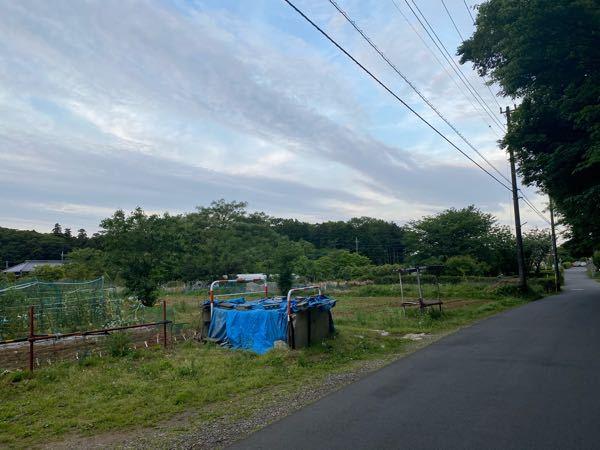 田舎ですかね?家のそばです。