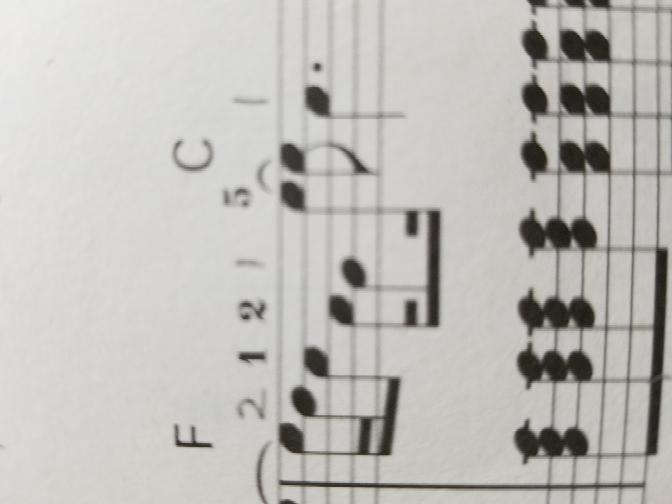 音の長さがよくわかりません。16分音符2つのあと8分音符、16分音符、8分音符、16分音符と8分音符をたす。そしてふてん2分音符は3拍?感覚ですか?