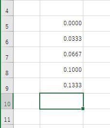 Excel初心者です Excelで1/30秒ごとの連続したデータをまとめて入力するにはどうすればいいですか? 画像は一つ一つ入力しているのですが、面倒です...