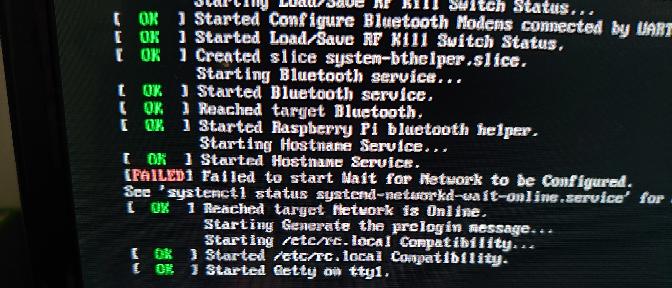 OpenMediaVaultをSSHからラズパイにアクセスしてインストールしました。 インストール後、無線LANに接続できません。 起動の段階で「Failed to start Wait fo...