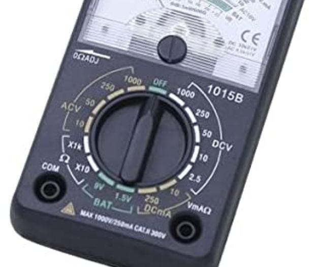 ドライブレコーダーを自分で付けるに当たり ACC電源線を探るべく、通電ドライバーを 購入しようとした処、納屋にアナログテスターが 有りました。 これを利用して通電ドライバーの変わりに 使うことは出来ますか? また可能な場合、ダイヤルレンジを どこに合わせれば良いか教えてください。 ダイヤルレンジには DCVが5種類 DCmAが2種類 ACVが4種類 Ωが2種類 有ります。 画像を添付するのでご伝授下されば幸いです。