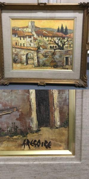 こちらの油絵の画家の名前を教えてください。アップロードした写真やサインをご確認ください