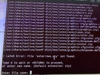 OSはubuntu20.04LTSです。 TEXファイルをコンパイルしたいのですが、エラーになります、、、 以前はこんなことにはならなかったのですが(以前とは使っていたubuntuのバージョンが違いますが )、調べても解決策がなかなか見つからないです。。。 写真は毎回出てくるエラーの画面です。 よろしくお願いします。