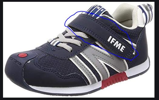 以下の靴の写真で青で囲んだ部分の名前を教えて下さい。