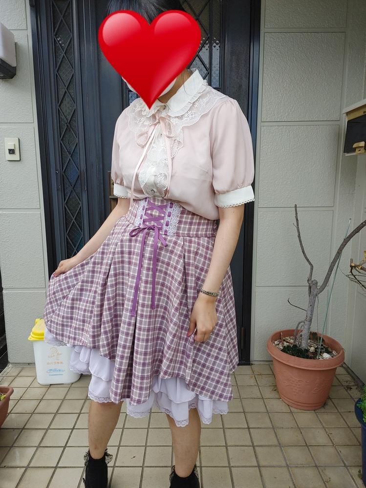 このファッション、可愛いですか? 気軽に回答お願いします。 お礼25枚。