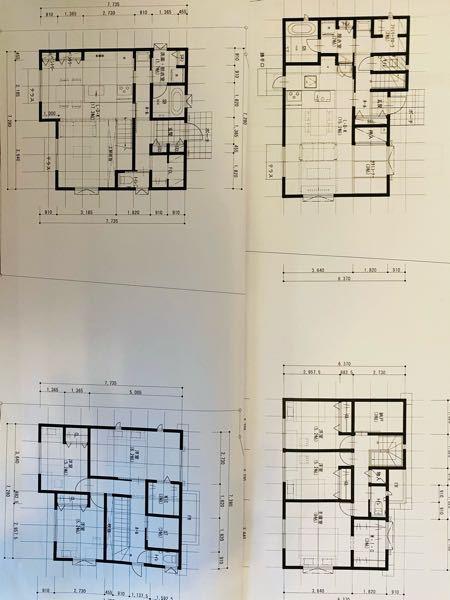 間取りについてです。32坪二階建です。 嫁と意見が合わないので皆さんの意見を聞きたいと思い投稿しました。 写真の長方形の間取りと正方形の間取り、 どちらがいいと思いますか?