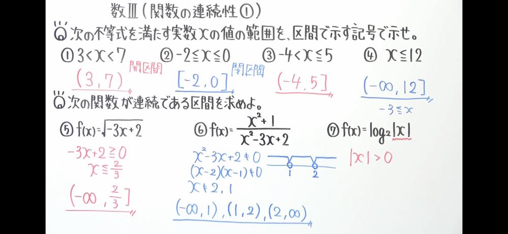関数の連続性 ⑥の問題についてなのですが、解説を見ると分母が0にならない場合のみを考えて解答しているのですが、 分子は0になっても良いのでしょうか?