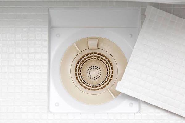 お風呂の排水溝についてです。 ゴキブリをこないようにするためにお風呂場の排水溝にネットを掛けたいのですが、写真のような排水溝ではなくて排水溝にホースのようなものが2本ぶっ刺さってる構造になっているんですけど、どうすればいいのでしょうか…?
