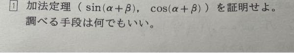 この数学の問題解いてください! 加法定理(sin(α+β),cos(α+β))