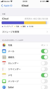 iCloudの容量がバックアップが半分くらい占めています。 バックアップとは何でしょうか?