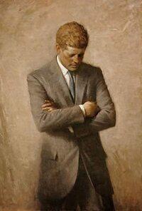 ケネディ元大統領この肖像画は有名だと思うのですが、これはいつ、誰によって描かれたものでしょうか? 調べてもこちらの肖像画については出てきませんでした。