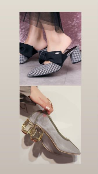 上の写真と下の写真 どちらの靴の方が良いと思いますか? 普段の系統はフレンチガーリー系です。 個人的に下の靴の方が気に入っていますが、洋服に合わせやすいのは上の靴なので物凄く迷っています。