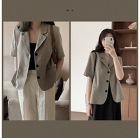 骨格ストレートで低身長(150cmくらい)なのですが、この服は似合うのでしょうか? ちなみにモデルさんは165cmだそうです。 また似合う場合、おすすめのコーディネートなども教えていただけると、ありがたいです!  https://m.laurenhi.jp/product/made-laurenベイトリネンハウンドチェック半袖ジャケット-1-color/24754/?cafe_mkt=...