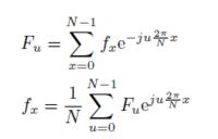 離散フーリエ変換でスペクトルの計算を行いたいのですが,やり方がわからないです。 N=8でfxがf0ーf7まで問題では具体的な値が与えられています。  画像にある上の式を実際に使って求めようとすると複素数であったりと値が無限に続き、先生いわく簡単なのでほんとに合っているか不安です。  授業スライドの計算例だと以下のように与えられてるのですが計算過程が省かれていて理解ができません。F2のスペクト...