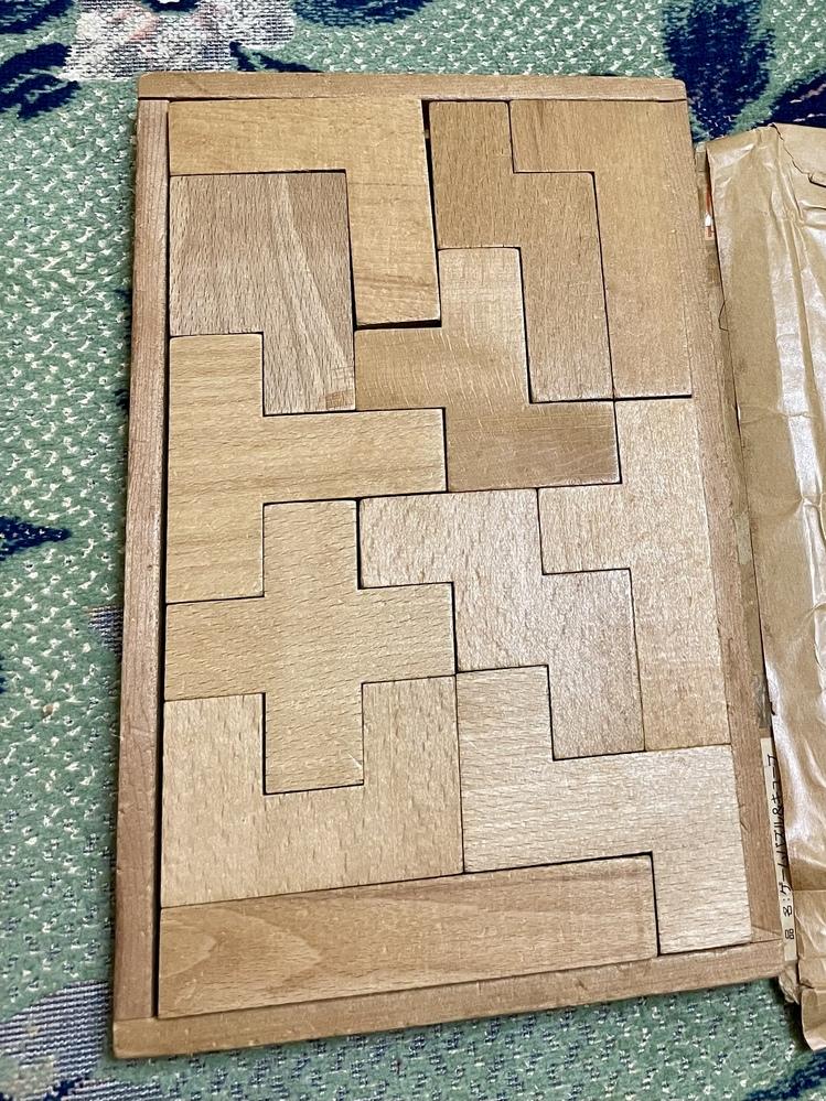 カタミノ というパズルに似た積み木を持っているのですが 画像以外に収納できるパターンはありますか?