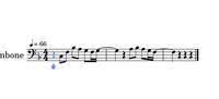 曲名を知りたいです。 下の画像楽譜のフレーズが入っている、一昔前の有名な洋楽曲です。 楽譜は質問のためだけに作った超適当なものなので深く突っ込まないでもらえると嬉しいです…