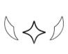 この画像の顔文字(?)を出す為にはなんて調べたら宜しいでしょうか? 横の羽みたいなのだけでもいいので、是非教えて下さい…!