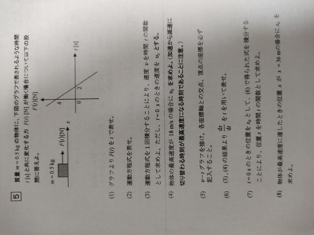 物理についての質問です。 画像の問題の解説をして頂きたいです。 よろしくお願いします。