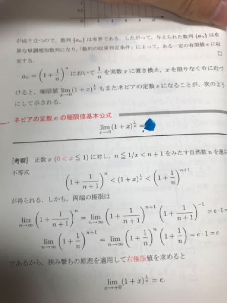 ネピアの定数について。 変形バージョンがあります。 このテキストにある通り、1/n=xと置き換えれば、変形バージョンは、得られるのに、なぜわざわざ考察つまり証明を書いているのでしょうか。