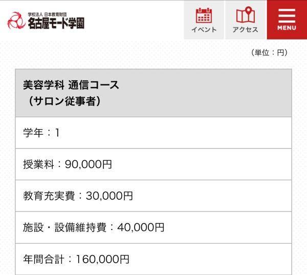 名古屋モード学園の美容科の通信で通うんですが学費自体は安いけどここから別でウィッグ代とかかかってくるんですよね??