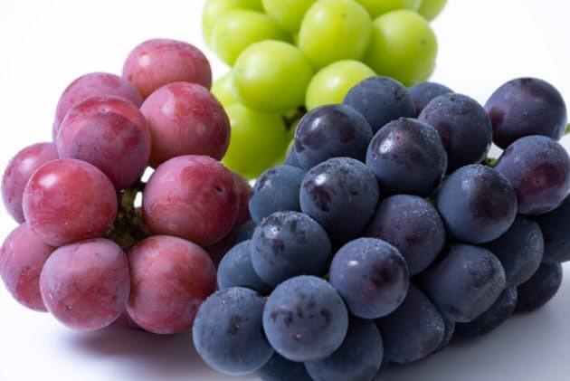 どんな葡萄が好きですかー? (^。^)b