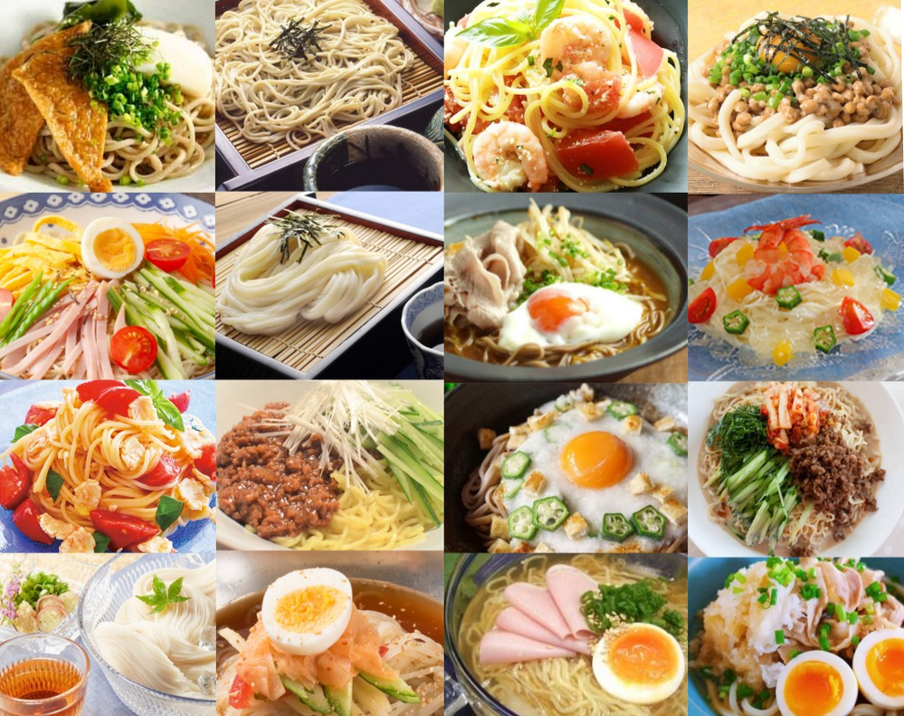 『冷製の麺料理』っていろいろありますが どんなのがお好きですか? (o^ー')/♪ ※画像はあくまでご参考です~☆ ☆upple♪