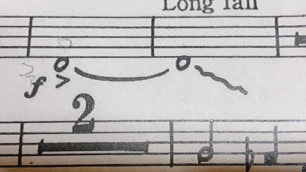 私吹奏楽部でチューバをやっているんですが、まだ、1年で初心者なのでこの楽譜の横の波線?の意味やどうやったらいいのかが分かりません
