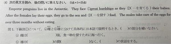 英語の問題の答えを教えてください。