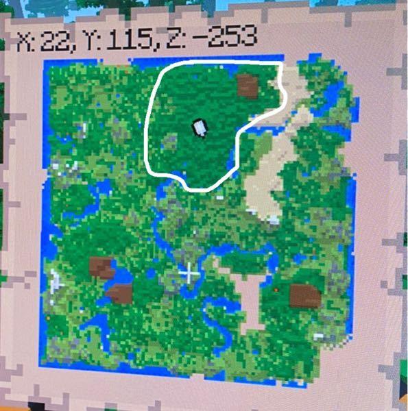 Minecraftの、山猫が出る確率・条件などあれば教えて欲しいです。 写真のようなマップで、白い線で囲ってある部分がジャングルなのですが、広いからと言って出やすくなるわけではないのですか…?