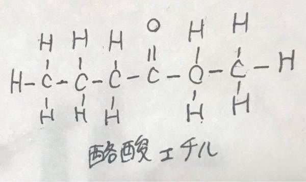 酪酸エチルの構造式はこれであっていますか?